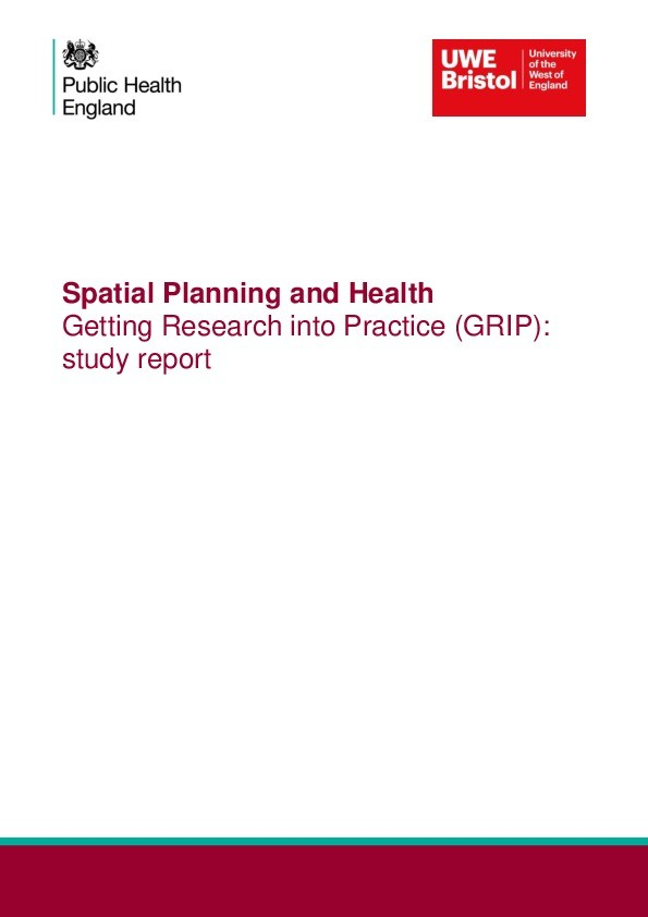 Spatial planning and health getting research into practice (GRIP): Study report Thumbnail