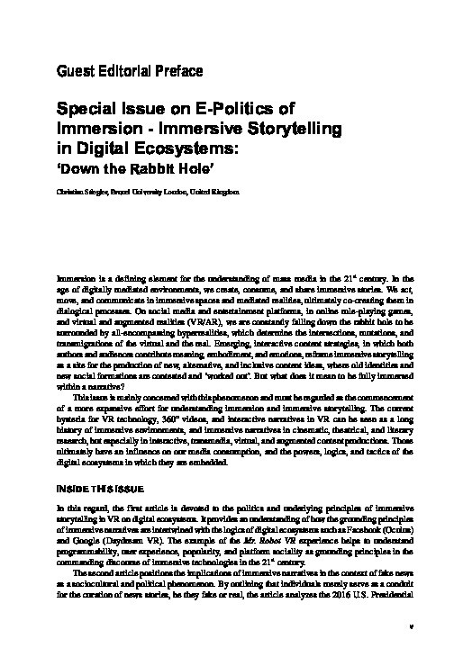 Down the Rabbit Hole: Editorial Preface Thumbnail