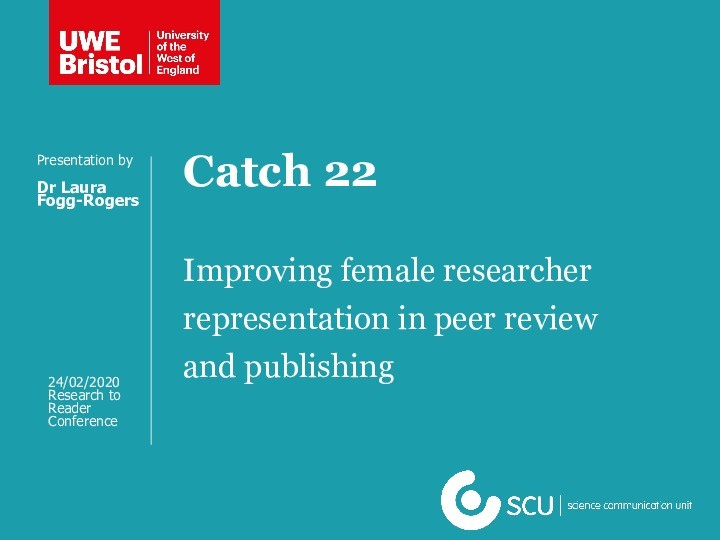Improving representation of female researchers in peer review and publishing Thumbnail