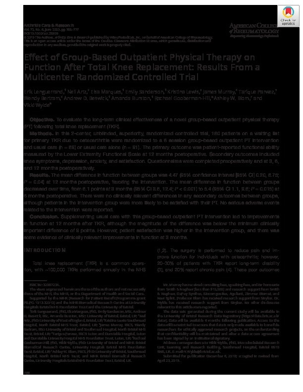 Fatigue in inflammatory arthritis Thumbnail