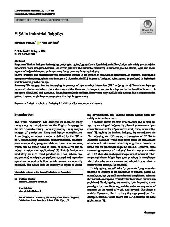 ELSA in industrial robotics Thumbnail