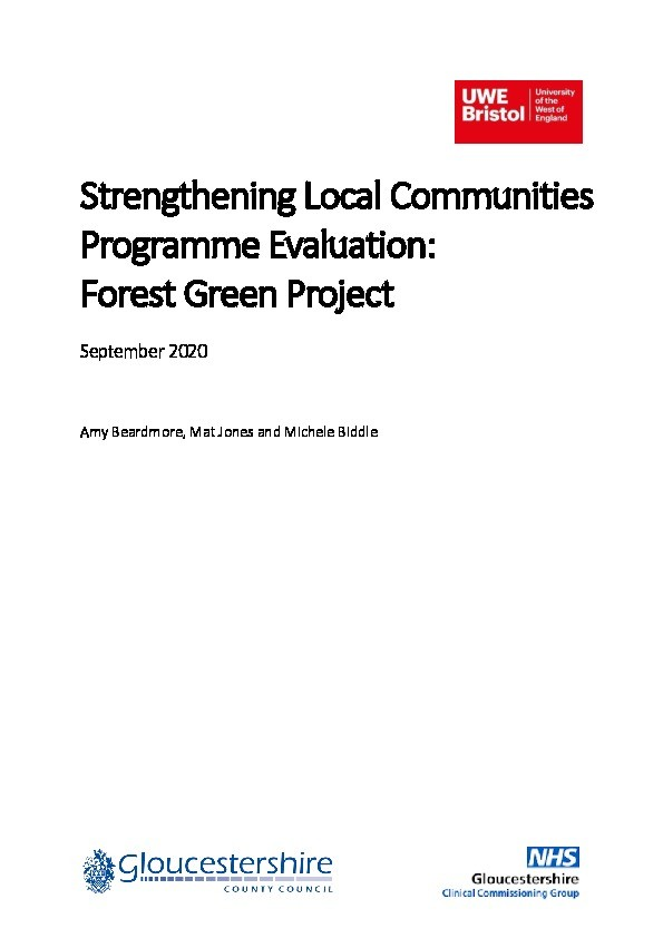 Strengthening Local Communities programme evaluation: Forest Green project Thumbnail