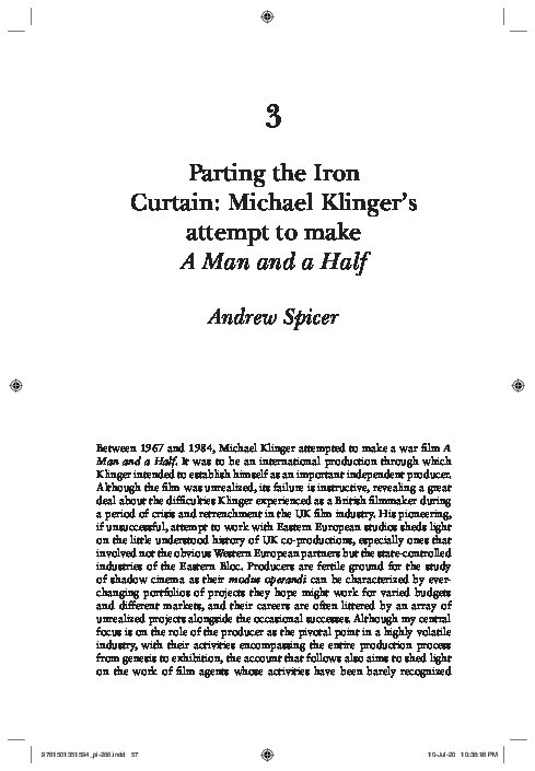 Parting the iron curtain: Michael Klinger's attempt to make 'A Man and a Half' Thumbnail