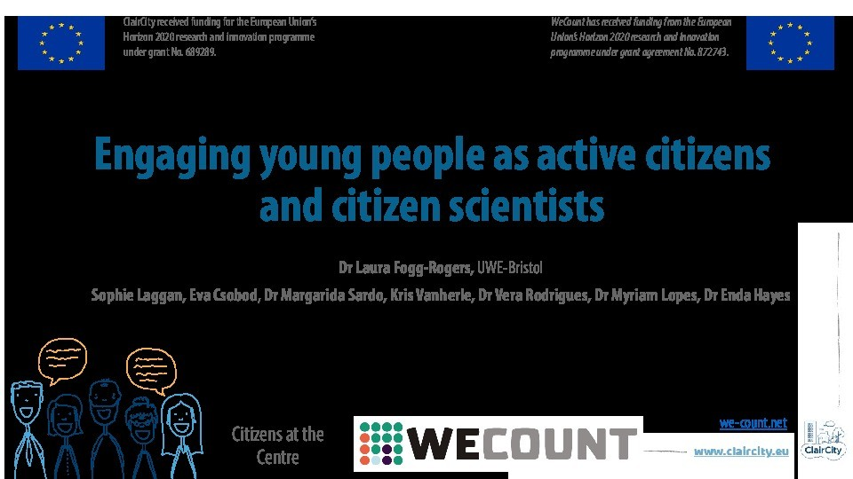 Engaging young people as active citizens and citizen scientists Thumbnail