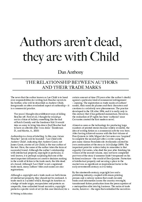 Authors aren't dead, they are with Child Thumbnail
