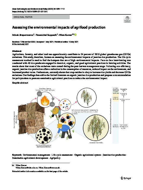 Assessing the environmental impacts of agrifood production Thumbnail