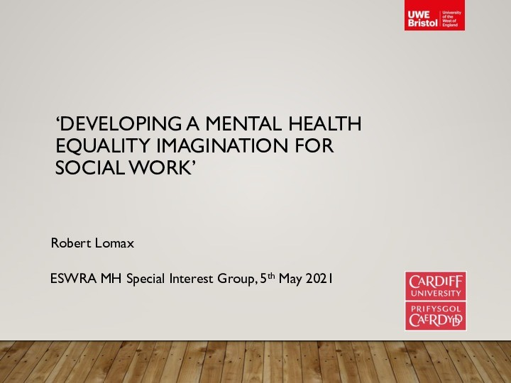 Developing a mental health equality imagination for social work Thumbnail