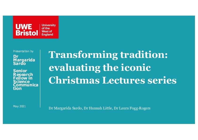 Transforming tradition: Evaluating the iconic Christmas Lectures series Thumbnail