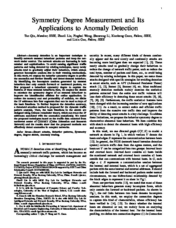 Symmetry degree measurement and its applications to anomaly detection Thumbnail