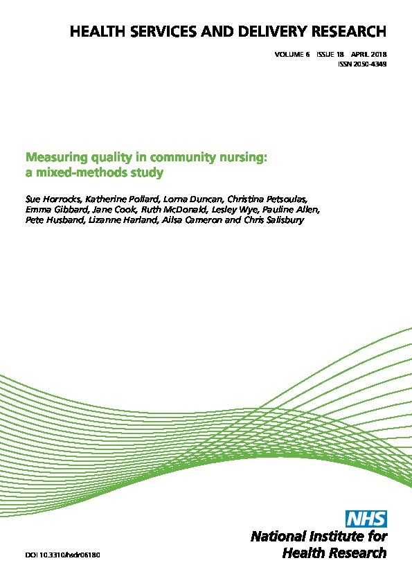 Measuring quality in community nursing: A mixed methods study Thumbnail